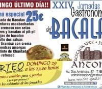 XXIV Jornadas del Bacalao en Restaurante Antonio