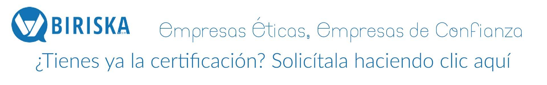 Biriska.com Solicita certificación